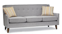 Sofas for healthcare - Walnut finish standard. Also Available in Espresso.