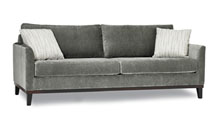 Sofas for healthcare - Retirement home sofa. Walnut finish standard. Also available Espresso.
