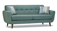 Sofas for healthcare - Retirement home sofa. Walnut leg standard. Also available in Grey and Espresso.
