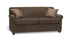 Sofas for healthcare - Care home sofa. Custom stain wood finish. Lift out flow through seat cushion.