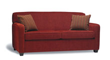 Sofas for healthcare - Sofa for seniors homes. Custom stain wood finish. Lift out flow through seat cushion.