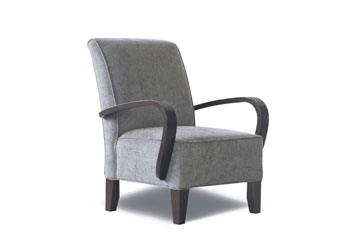 Seating for seniors homes. Espresso leg finish standard. Also available with light leg.