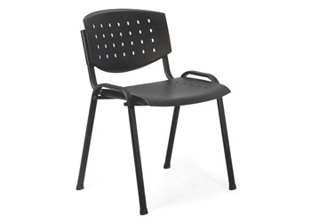 Polypropylene 4 legs Stacking Chair, no arms.